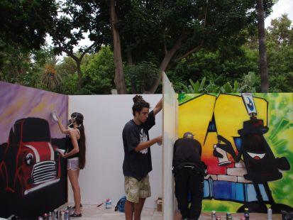 muestra de arte en el parque