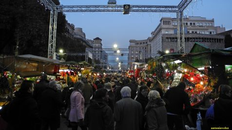 Mercadillo navideño de Barcelona