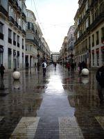 caminando el dia de lluvia