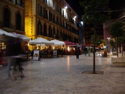 noche en la plaza