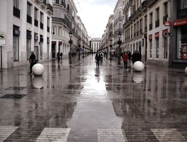 lluvia en calle larios