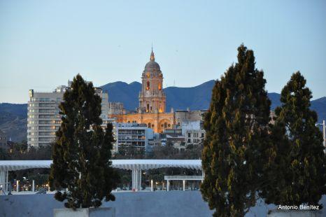 Atardecer en Málaga