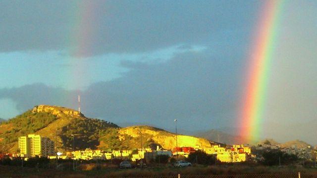 Arco iris en el Puerto de la Torre.