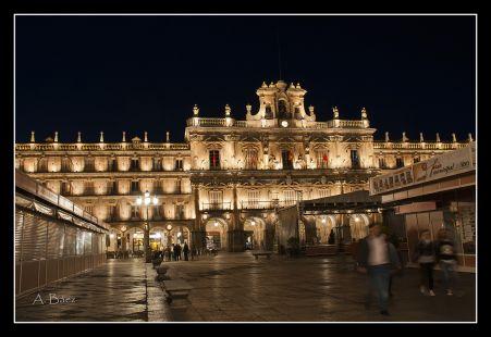 Feria del libro en la Pza. Mayor de Salamanca