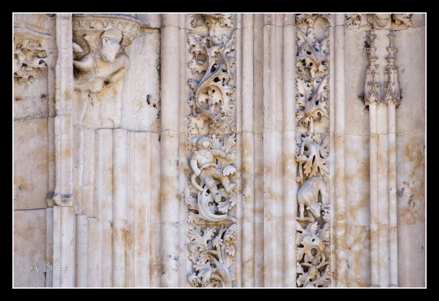 Astronáuta en la catedral de Salamanca