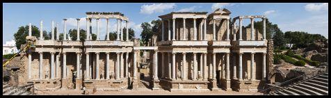 Panorámica del Teatro Romano de Mérida