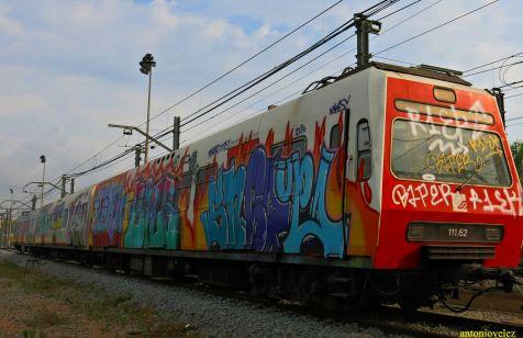 El tren del grafiti