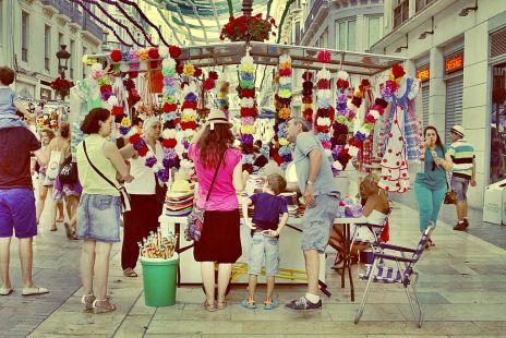 sombreros y flores
