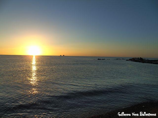 Amanecer desembocadura del Guadalhorce
