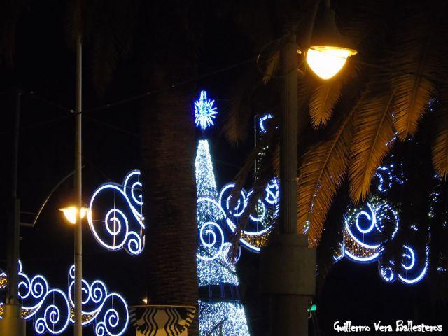 luce la Navidad en Málaga