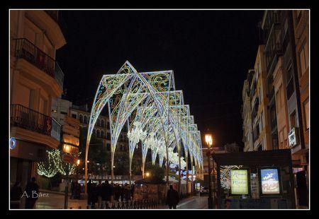 Iluminación navideña en Puente Genil