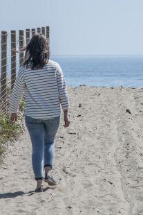 Caminando a la playa