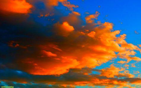 Nubes al atardecer